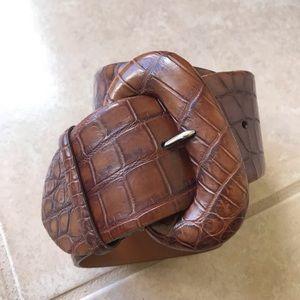 Ralph Lauren Collection Croc belt